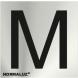 Señal adhesiva letra m inox 50x50x0,8mm NORMALUZ