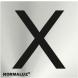 Señal adhesiva letra x inox 50x50x0,8mm NORMALUZ