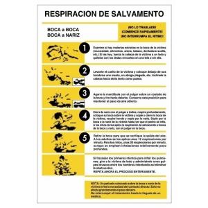 Señal respiracion de salvamento pvc 300x400x0,3mm NORMALUZ