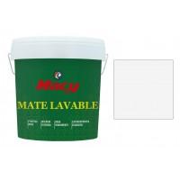 Pintura mate lavable blanca 8 l MACY