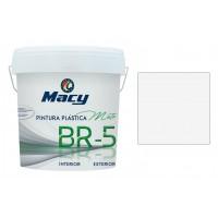 Pintura plastica mate BR-5 blanca antimoho 4l MACY