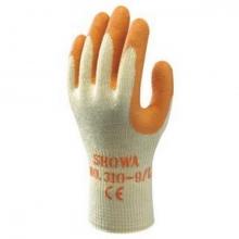 Guante SH310-ORANGE T- 8 algodon/latex rugoso SHOWA