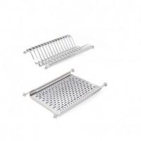 Escurreplatos Emuca para módulo de cocina 450mm en acero inoxidable