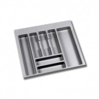 Cubertero Optima Emuca para cajón M60 de medidas 536x482 mm