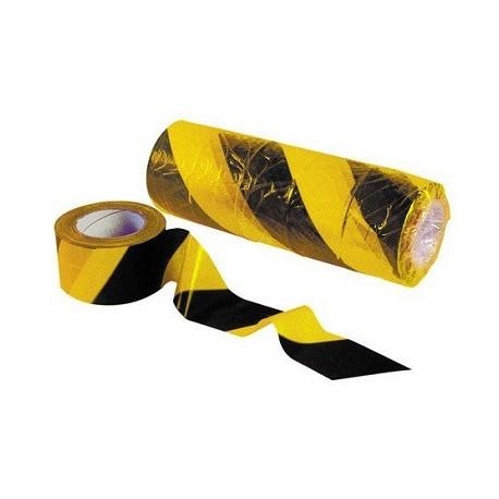 Cinta balizamiento amarillo/negro 200mx70mm galga 170g KARPATOOLS