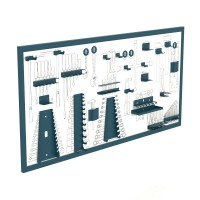 Panel madera serigrafiado para herramientas 1570x25x800mm HECO