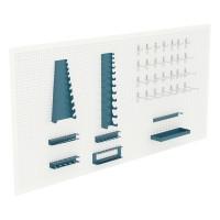 Juego de 35 soportes de herramientas para panel metalico HECO
