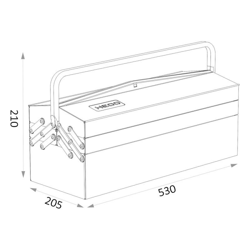 Heco 108 7 Caja Herramientas Metalica Heco 108.7=108