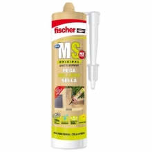 Sellador adhesivo MS Plus blanco 300ml FISCHER