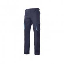 Pantalon multibolsillos con refuerzo azul navy/celeste VELILLA