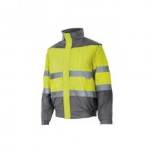 Cazadora alta visibilidad acolchada 161-20-8 amarillo/gris VELILLA