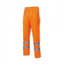 Pantalón forrado alta visibilidad F160-19 naranja VELILLA