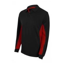 Polo bicolor manga larga 105514-0-12 negro/rojo VELILLA