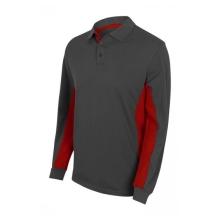 Polo bicolor manga larga 105514-8-12 gris/rojo VELILLA