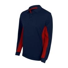 Polo bicolor manga larga 105514-61-12 azul navy/rojo VELILLA