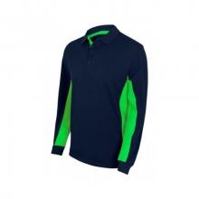 Polo bicolor manga larga 105514-61-25 azul navy/verde lima VELILLA