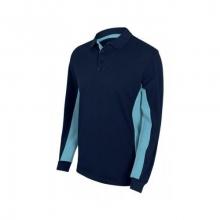 Polo bicolor manga larga 105514-61-5 azul navy/celeste VELILLA