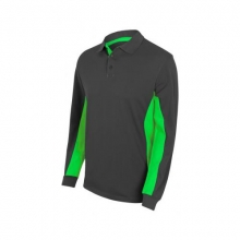 Polo bicolor manga larga 105514-8-25 gris/verde lima VELILLA