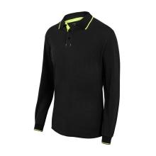 Polo bicolor raya manga larga 105515-0-20 negro/amarillo VELILLA