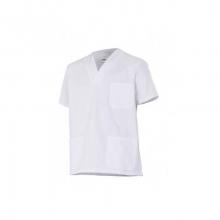 Camisola sanitaria 535205-7 blanca manga corta cuello pico a VELILLA