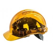 Casco Helmet Naranja transparente PEAKVIEW