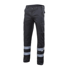 Pantalon stretch multibolsillos 103014S-0 negro VELILLA
