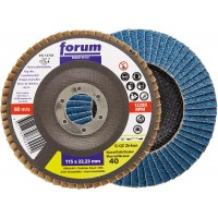 Disco láminas lija circonio eco 12º 115mm G 60 acero inox fu FORUM