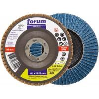 Disco láminas circonio eco 12º Ø115mm G40 acero inox FORUM