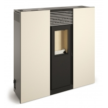 Estufa pellet pasillera Phoenix glass 10 kW aire canalizable FERLUX