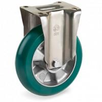 Rueda serie 62ER fija ø125mm 350Kg poliuretano verde TELLURE