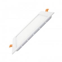 Placa led slim cuadrada blanca empotrable blanco frio 6000k