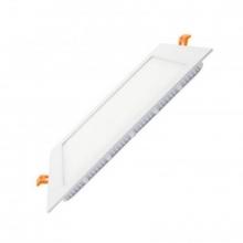 Placa led slim cuadrada blanca 12w blanco frio 6000k