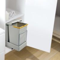 Contenedores de reciclaje Emuca de fijación inferior y extracción automática con 2 vasos de 14 litros