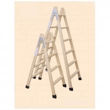 Escalera madera tijera 6 peldaños con tacos altura 1,5m CLIMENT