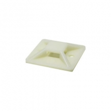 Placa brida adhesiva blanca 19-4mm