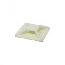 Placa brida adhesiva blanca 27-6mm