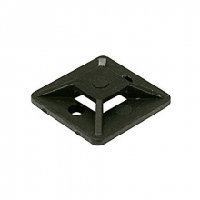 Placa brida adhesiva negra 27 bridas hasta 4,8mm