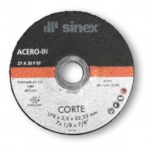 Disco corte 150x3,0x22,2 mm acero-inox SINEX