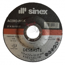 Disco desbaste 150x7,0x22,2 acero-inox SINEX