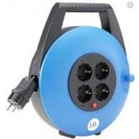 Extensible 10 Mtrs 3x1,5 azul c/ carcasa cerrada+termico HEDI