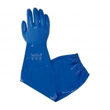 Guante nitrilo azul sobre algodon largo 67cm uso alimentario JUBA