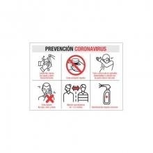 Vinilo pared A3(42x59,4mm) prevencion contagio MEPLASJAR