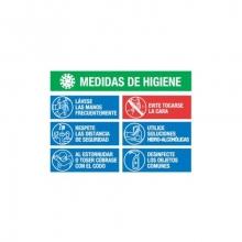 Lonal PVC Covid-19 medidas higiene 70x50cm MEPLASJAR