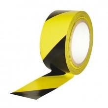 Cinta adhesiva polipropileno amarillo- negro 5cm x 66m
