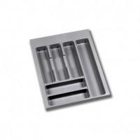 Emuca Cubertero para cajón de cocina, módulo 450 mm, Plástico, Gris