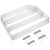 Emuca juego de separadores para armarios y estanterías, 4 unidades, acero, cromado.