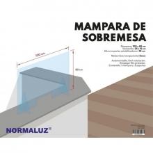 Pantalla mampara S6521 100x80cm metacrilato 3mm con estabili NORMALUZ