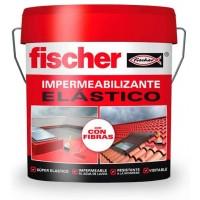 Impermeabilizante elástico con fibra 15 litros gris FISCHER