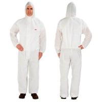 Buzo desechable 4515 5/6 blanco con capucha talla L 3M