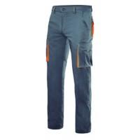 Pantalon stretch multibosillos 103024S 8-16 gris/naranja VELILLA